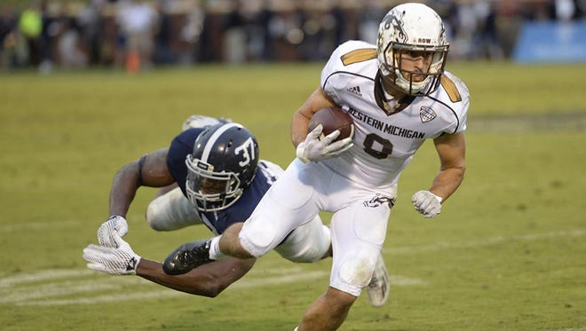 Western Michigan's Daniel Braverman currently leads the nation in receptions per game (13.0).