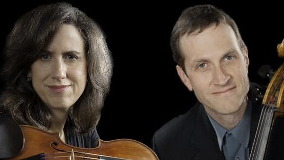 Violinist Katherine Gradojevich Manker and cellist Brian Manker will perform with pianist Wei-Tang Huang at Phelps Mansion Museum on Sunday.