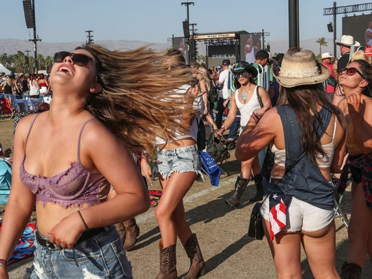 Apr 27, 2018; Indio, CA, USA; Fans at the Stagecoach Country Music Festival at Empire Polo Club. Mandatory Credit: Jay Calderon/The Desert Sun via USA TODAY NETWORK