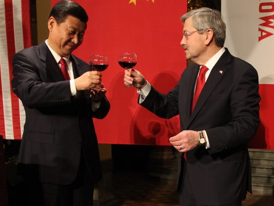 China Vice President Xi Jinping Iowa Governor Terry Branstad