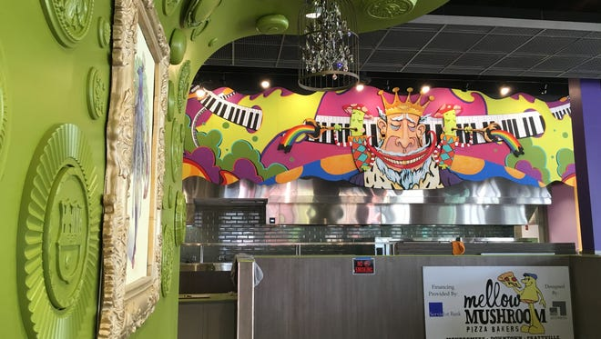 Much of the interior is finished at Mellow Mushroom's new downtown Montgomery spot.