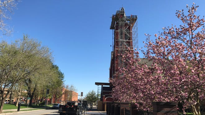 In about three weeks St. Mary's Church will have a new cross on top of the locally iconic church.  May 7, 2018