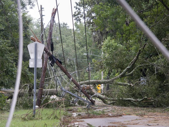 Gregg Pachkowski/gregg@pnj.comWhen Hermine knocked out power in Tallahassee, the city's sewage pump stations failed — spewing 1.6 million gallons of sewage. When Hermine knocked out power in Tallahassee, the city's sewage pump stations failed - spewing 1.6 million gallons of sewage.