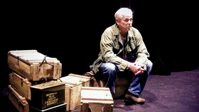 """Actor Dwight Gunderson appears in """"The Wedding of Tomorrow and Sorrow,"""" a mixed-media presentation by local writer Jerome Vincent Hansen at Pioneer Place."""