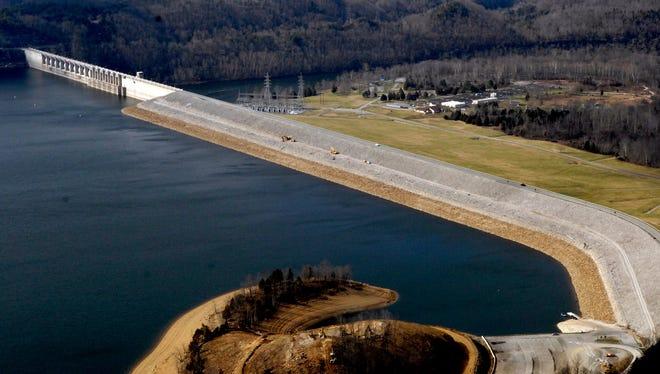 Wolf Creek Dam at Lake Cumberland. January 25, 2007