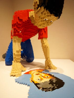 One of the many pieces of art created using LEGO bricks by Nathan Sawaya on display at the Mansfield Art Center.