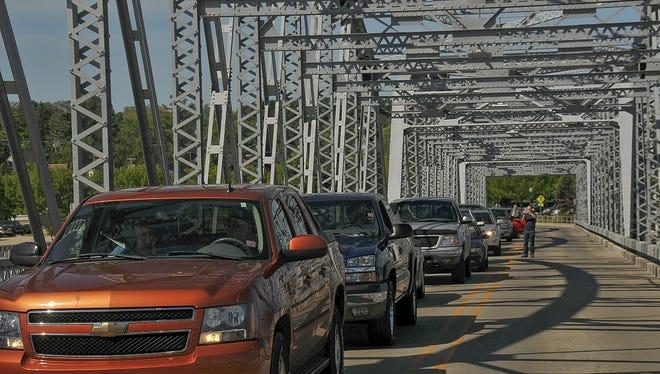 The Michigan Street Bridge in Sturgeon Bay on June 6.