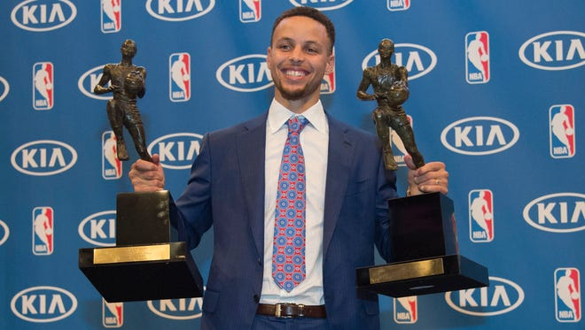 Stephen Curry is a favorite to add the third MVP award of his career. But he will get a lot of competition from 76ers center Joel Embiid.