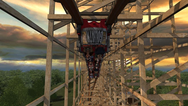 In addition to setting three world records, Goliath will also feature two inversions.