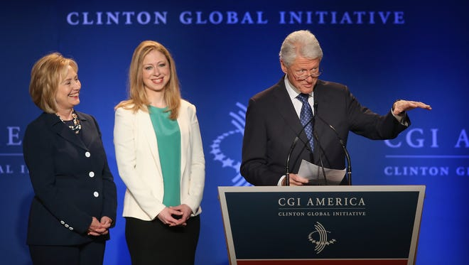 Former president Bill Clinton, his wife, Hillary, and Chelsea are actively involved in a foundation named for all three.