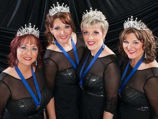 Bling!, world champions of the Sweet Adelines competition, join the Everglades Barbershop Chorus in concert March 31.