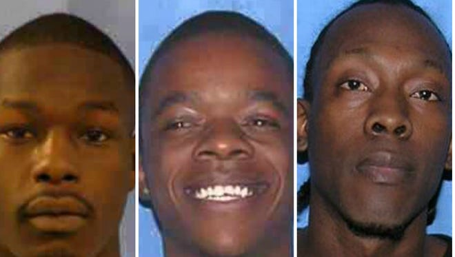 Deundre Pinkston, Jeremy Jordan, and Gary Chambers escaped a work detail in Hinds County today.