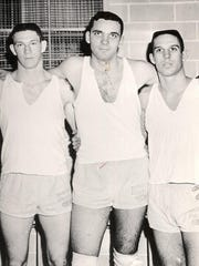 Ohio State stars (L-R) John Havlicek, Jerry Lucas and