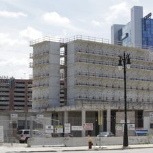 The $300-million Wayne County Jail project in Detroit on Thursday, Aug. 15, 2013.