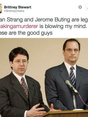 Defense team Dean Strang and Jerry Buting for Steven Avery's murder case.