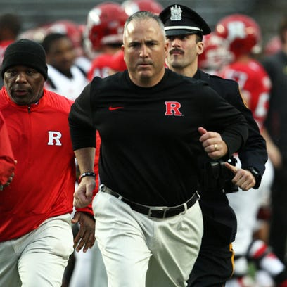 Rutgers head coach Kyle Flood, whose job security is in question after his team's season-ending loss to Maryland on Saturday, has hit the recruiting trail on Sunday.