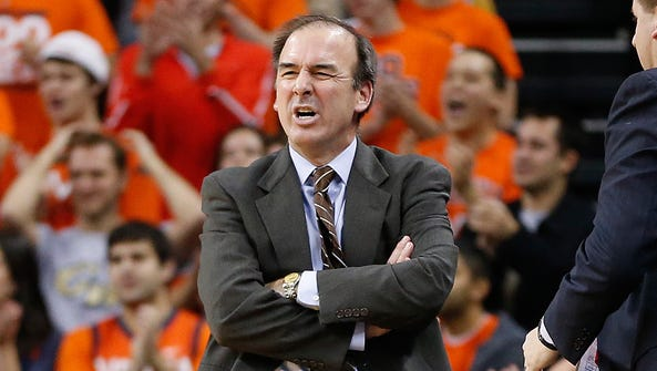 George Washington Colonials head coach Mike Lonergan