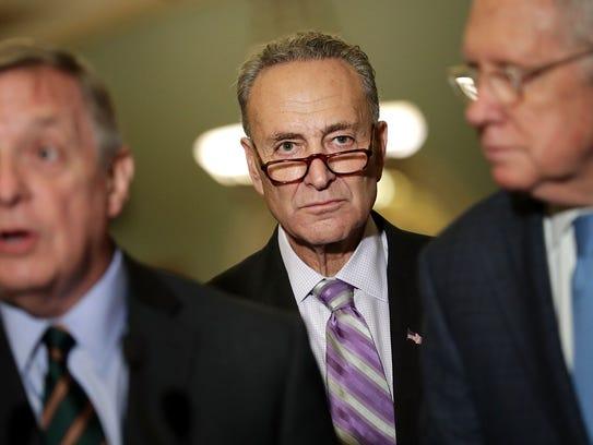 Chuck Schumer, líder de la minoría en el senado.