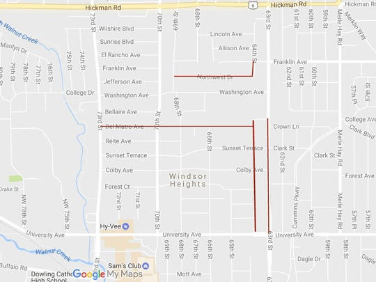Windsor Heights will install new sidewalks on four
