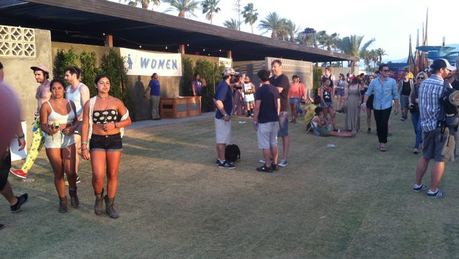 This quite possibly IS the best restroom at Coachella. Notice the lack of line, too. Sorry dudes, women only.