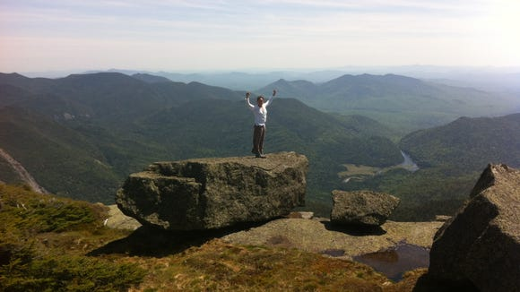 The columnist on top of Algonquin Mountain