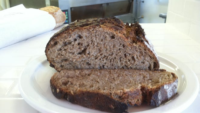 Breadico di Napolitano's baker's choice loaf for today and Saturday is Monk's Mash, made with spent grain from the nearby brewery.