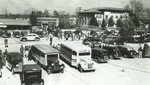 Downtown Brandon during the 1930s.