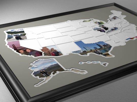 50 states photo map from ThunderBunnyLabs