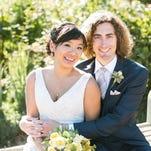 Amy Kangwankij and Adam Sonnanstine on their wedding day