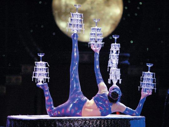 Golden Dragon Acrobats perform at Aronoff Center's  Procter & Gamble Hall Tuesday.