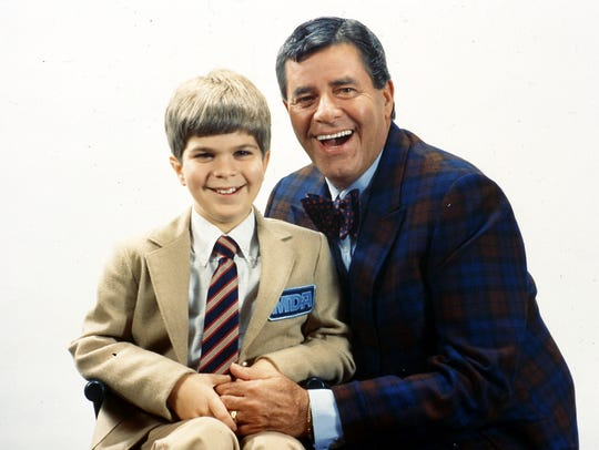 Jerry Lewis, who died last month, with Mikey Neufeldt