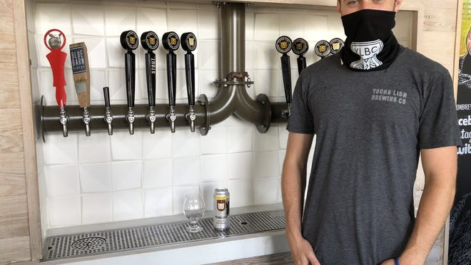 Young Lion Assistant Brewer Brian Bremer came up with Honey Bear IPA, inspired by the black bear that made its presence felt in Canandaigua last month.