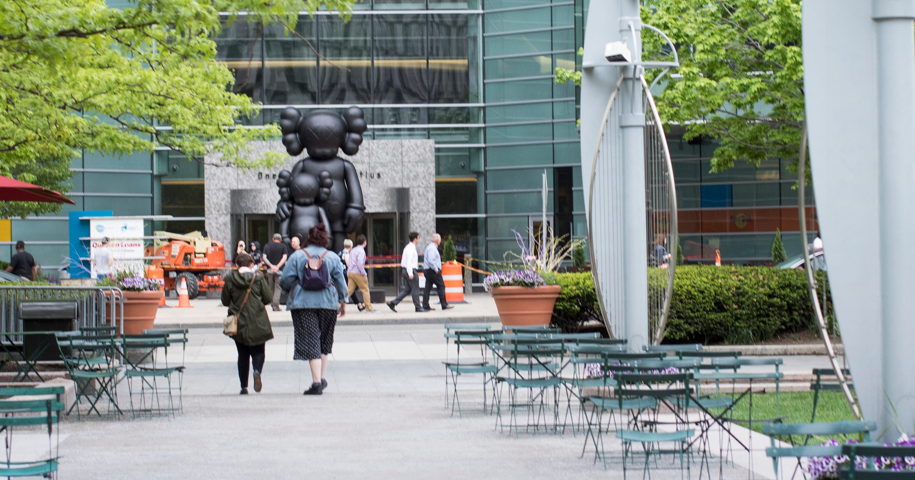 9bed4f98 New Kaws statue in Campus Martius gains fans and critics