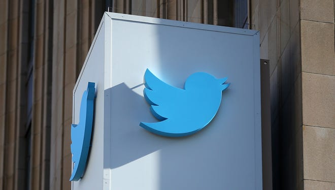 A sign is posted outside of the Twitter headquarters in San Francisco.