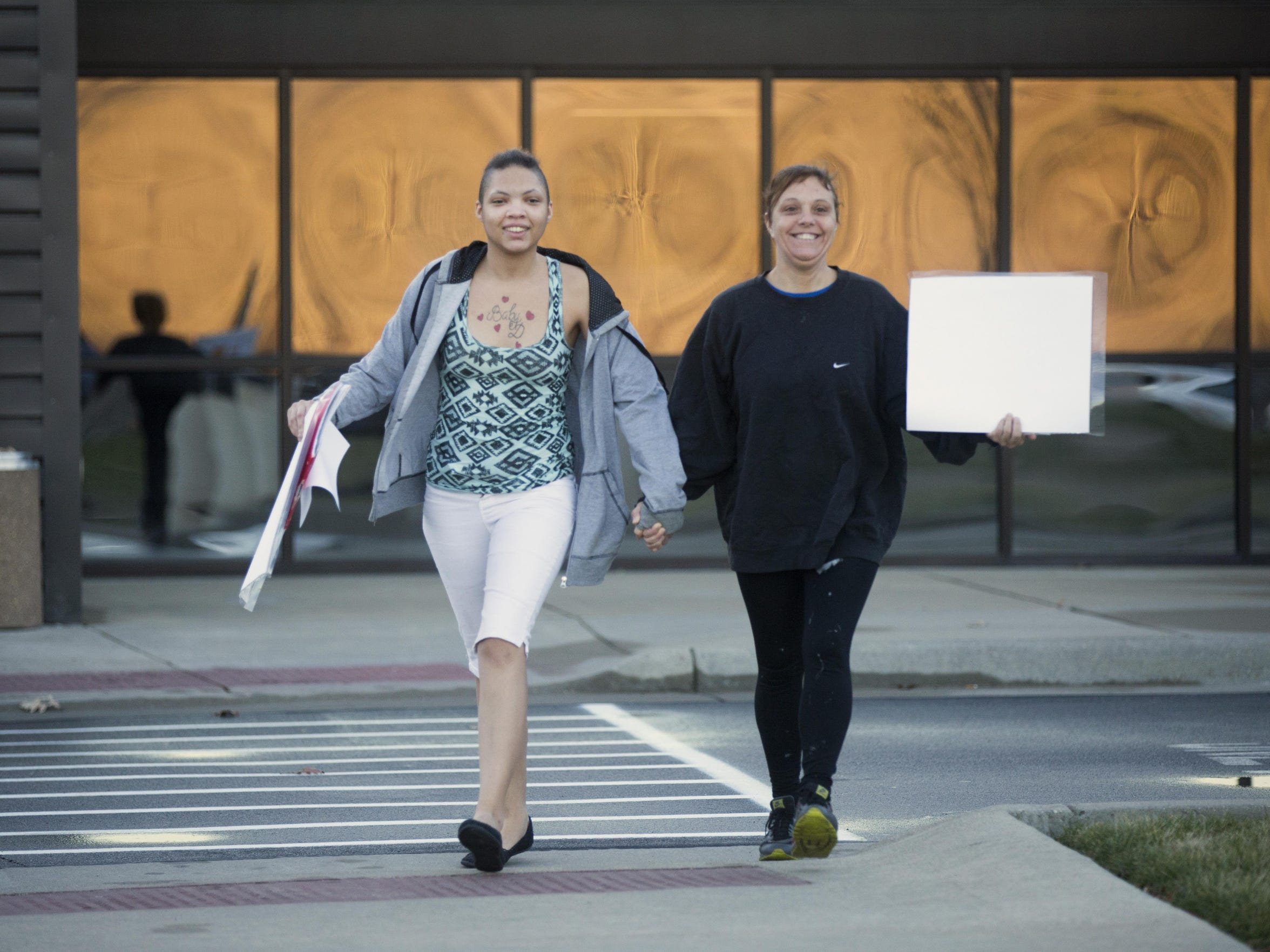 Dominique walks out of the Kenton County jail on Dec.