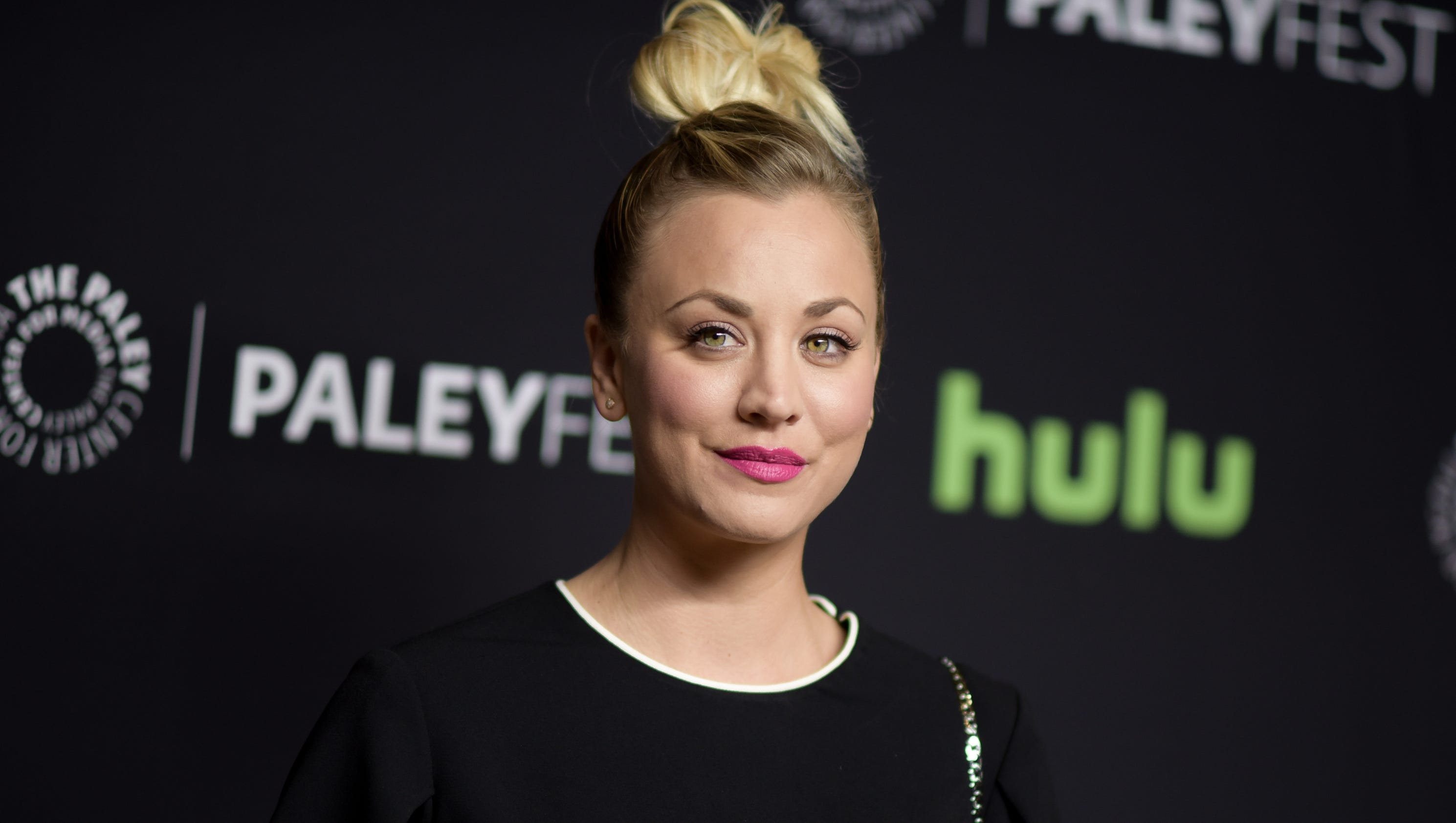 Kaley Cuoco apologizes for photo of dogs sitting on U.S. flag