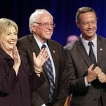 Democratic presidential candidates Hillary Rodham Clinton, Bernie Sanders and Martin O'Malley will face off again Saturday night at the second Democratic debate, in Des Moines, Iowa.