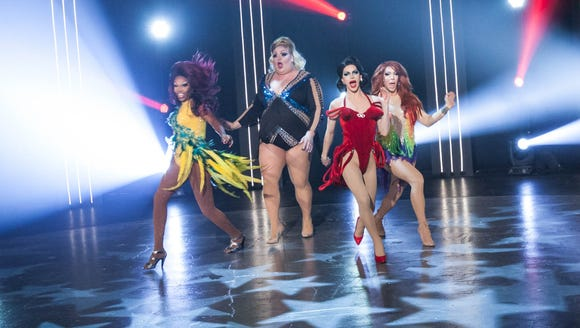 Season 10's final four: Asia O'Hara, left, Eureka,