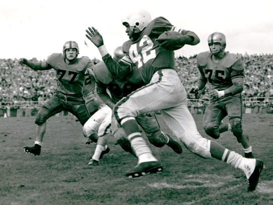 Lenny Moore was the nation's second-leading rusher in 1954 -- and the best defender on his team -- and still didn't earn All-America status. He owned similar all-around, generational skills to Saquon Barkley.