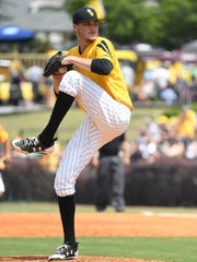 Southern Miss pitcher Walker Powell delivers to the plate Saturday against Louisiana Tech.