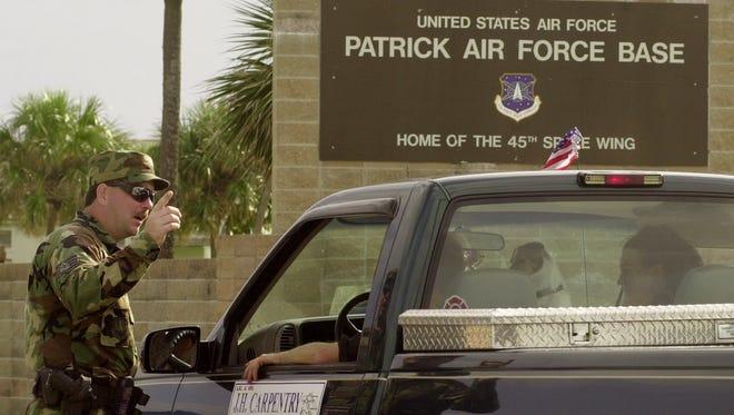 Security at Patrick Air Force Base.