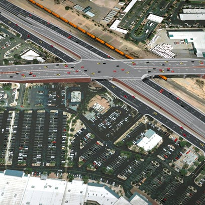 Bell Road/Grand Avenue overpass construction