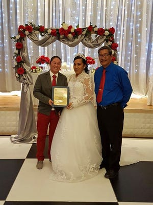 Tuncap-Pocaigue wedding: Tiara Leanne Diaz Tuncap and Kerilyn Diane Pocaigue were wed Oct. 28 at Leo Palace Resort by Sen. Joe S. San Agustin.