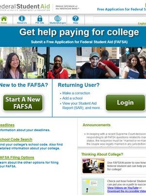 The fafsa.ed.gov site.