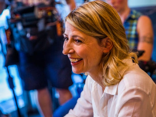 "Television host Samantha Brown and her crew films an episode of her series ""A Place to Love"" at Grouper and Chips restaurant in Naples Wednesday, May 2, 2018. The PBS series looks to highlight ""little-known spots and haunts"" and also filmed in other locations in Naples for the show."
