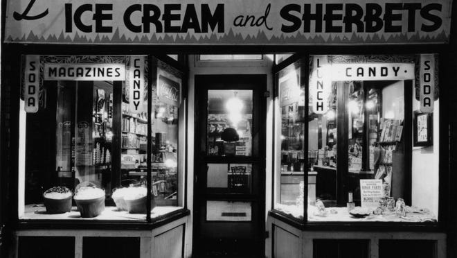 Louie's Sweet Shoppe anchored the corner of Brooks Avenue and Thurston Road for more than 70 years.