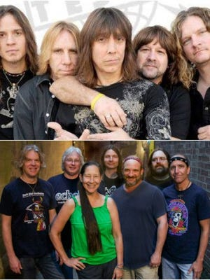 Tesla, top, and Dark Star Orchestra, bottom