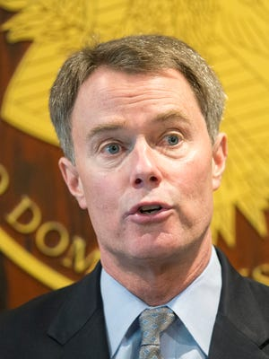 U.S. Attorney Joseph Hogsett discusses the indictment of Andrew Fenwick, 24, a reserve deputy with the Putnam County Sheriff's Department.