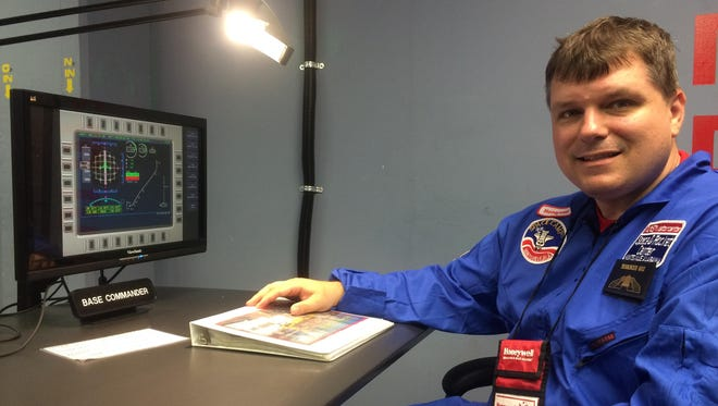John Reichenberg is shown serving as base commander at Space Camp in Huntsville, Alabama.