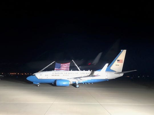 The plane carrying three Americans — Kim Hak-Song,